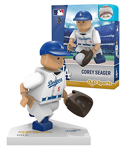 - Oyo Sportstoys MLB New York Yankees Los Angeles Dodgers Corey Seager Home Uniform Limited Edition Minifigure, Small, White