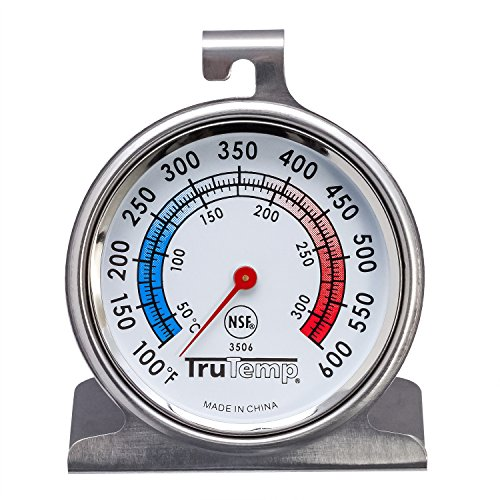 (Taylor 3506 RA14257 Oven Dial Thermometer, 1, Stainless Steel/Black)