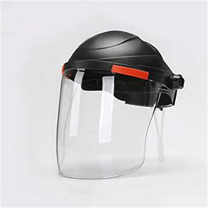 Safety Face Shield >> Amazon Com Industrial Clear Safety Face Shield And Wide Visor