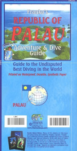 Palau (Micronesia) 1:170 000 / 105 000 Visitor's Guide & Dive Map, waterproof FRANKO, 2013 edition