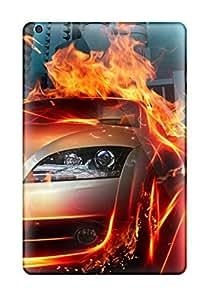 Flexible Tpu Back Case Cover For Ipad Mini/mini 2 - Car In Fire City Hq