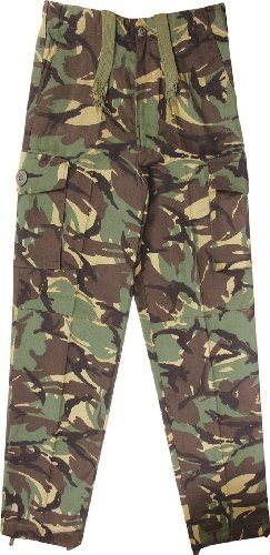 KAS Kids Army Camouflage Combat Pants - Woodland Camo Ages 3-13 Years (Age 5-6)