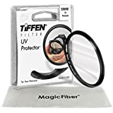 TIFFEN 58MM UV Protection Filter for CANON EOS REBEL (T5i T4i T3i T3 T2i T1i XT XTi XSi SL1) Cameras + MagicFiber Microfiber Lens Cleaning Cloth