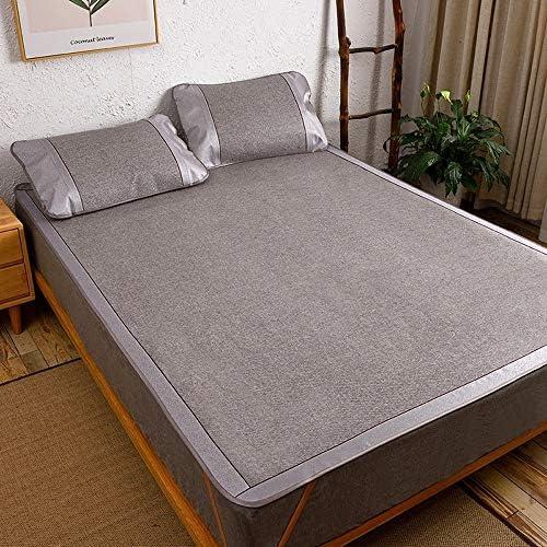 Chencheng 炭化させた竹睡眠マット、家庭用空調シートが折り畳み可能な暗号化ソフトシートを両面(5色),暑い夏に適し (Color : D, Size : 0.9x1.95m)