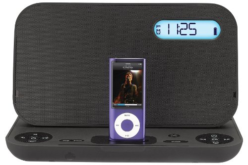 IHOME iP49BZC Portable Stereo Rechargeable Alarm Clock FM