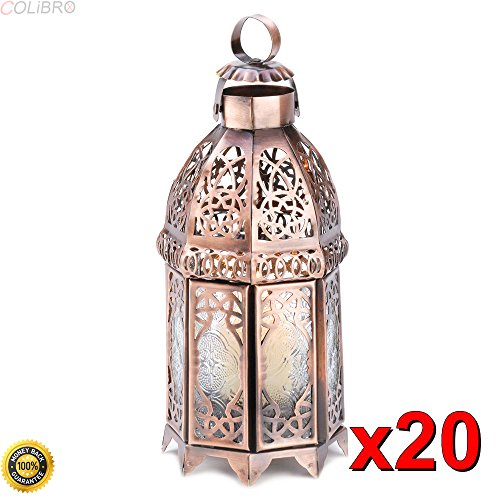 COLIBROX-20 Copper Moroccan Style Candle LAMP Lantern Wedding CENTERPIECES New~13366,Lanterns for Weddings,Decorative Lanterns, Metal Lanterns,Wholesale Lanterns for Weddings
