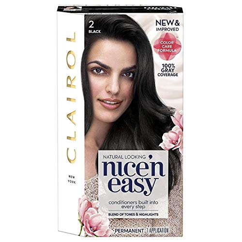 (Clairol Nice 'n Easy Permanent Color, 2/122 Natural Black 1 ea )