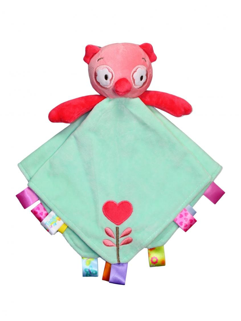 Taggies Rattle Head Owl Baby Girl's Plush Security Blanket - Green by Taggies   B00MVBWI6U