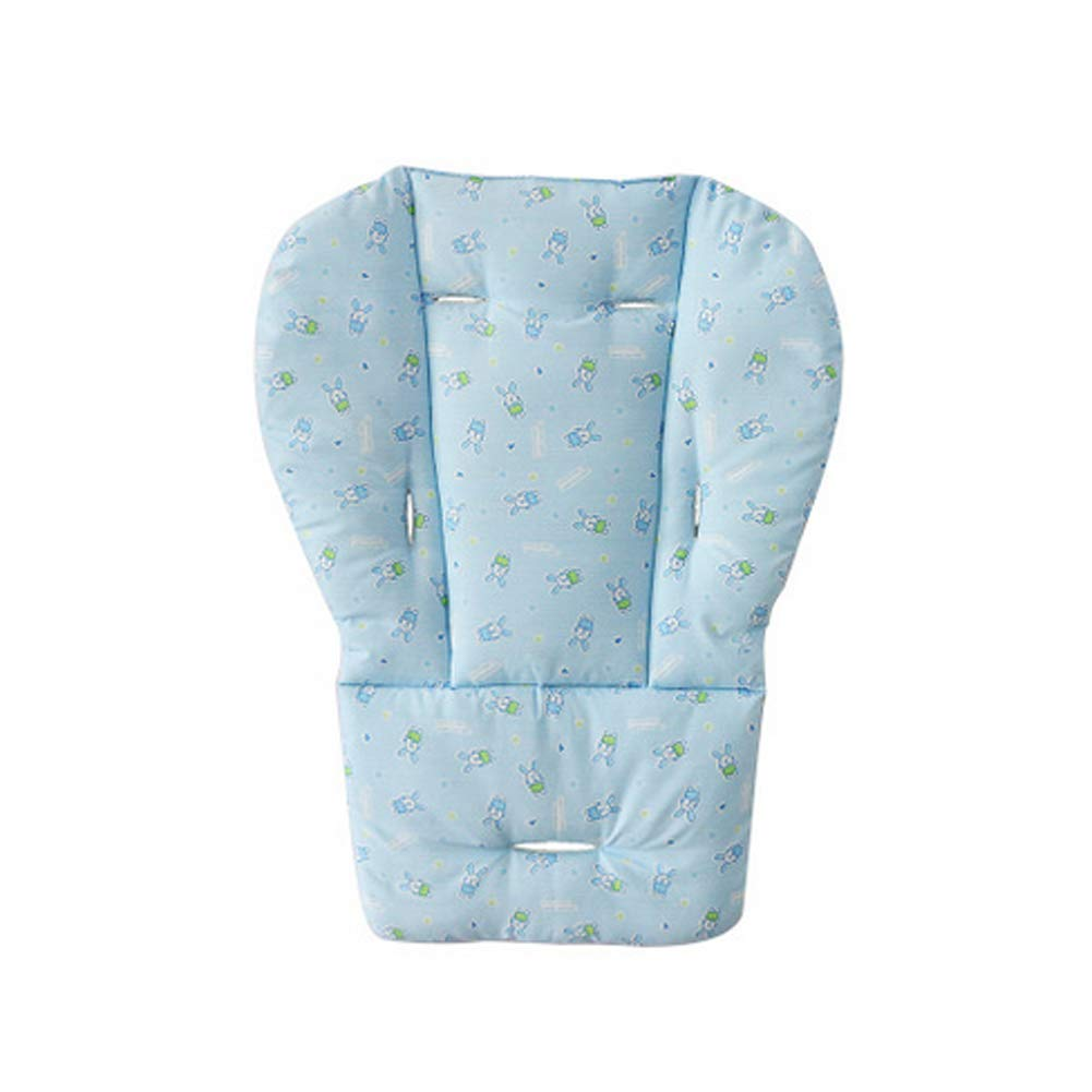 High Chair Pad, Baby Seat Cushion Liner Mat Pad Cover for Stroller Car Breathable Waterproof Liner Mat Pad Protector Blue Naisidier