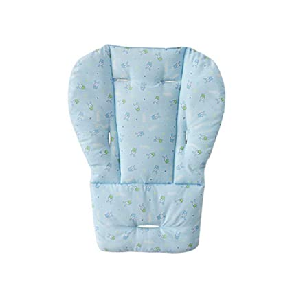 Mi Ji Colchoneta para silla, alfombrilla para cochecito Trona para coche transpirable alfombrilla (1pc azul)