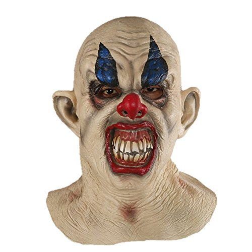 X-Merry Scary Creepy Halloween Clown Evil Latex Mask - Smiling Clown (Scary Smiling Clown)