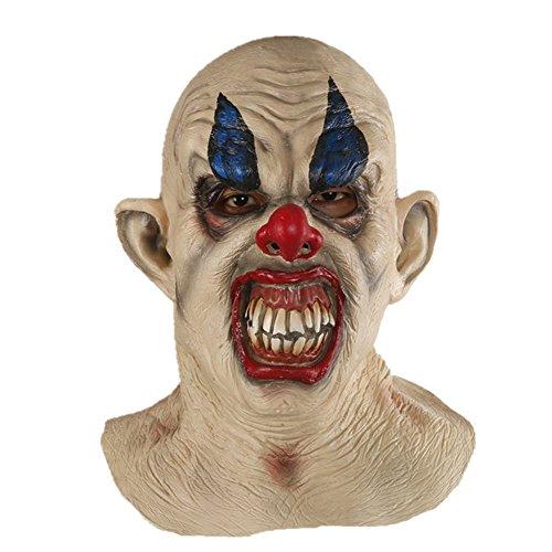 UPC 637632526723, X-Merry Scary Creepy Halloween Clown Evil Latex Mask - Smiling Clown