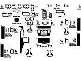 Rdash Dash Kit Decal Trim for AM General Hummer 1996-1998 - Matte (Silver)