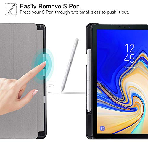 Ztotop Case for Samsung Galaxy Tab S4 10.5 Inch 2018 with S Pen Holder- Lightweight Slim Trifold Stand Cover with Auto Sleep/Wake for Samsung Tab S4 10.5 Inch Tablet SM-T830 /T835/T837-Black.