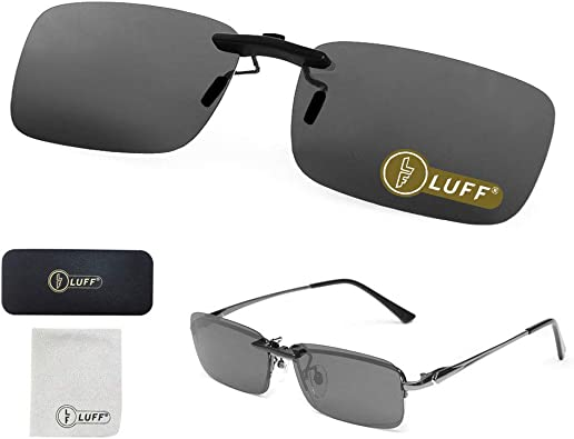 Suprise for Glasses Wearer Both Day and Night Sunglasses Night Vision Polarized Clip on Glasses Blue Light Blocking Computer Glasses Clip on Glasses