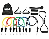 PIN JIAN Rubber Resistance Band Set, 12 Pieces Review