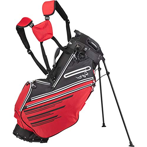 (TGW Tour Deluxe 14-Way Stand Bag Black/Red )