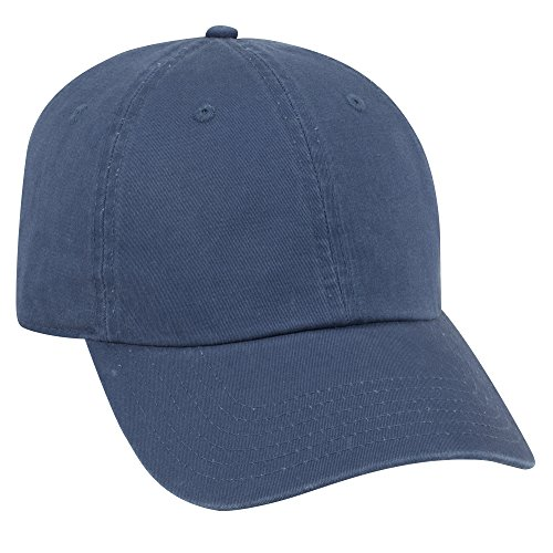 - OTTO Garment Washed Superior Combed Cotton Twill 6 Panel Low Profile Dad Hat - Royal