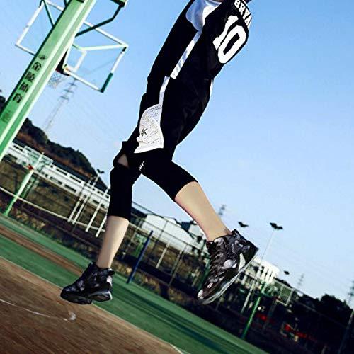 Basket Baskets À Hommes Élevé Chaussures Course Choc Black Pied Élastique Sneakers ball pq55C