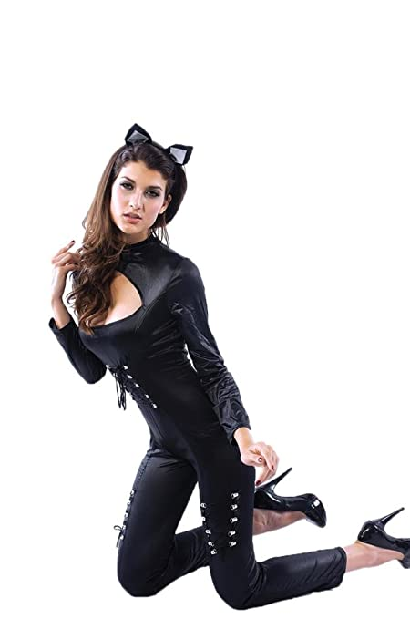 EOZY Mujer Navidad Uniformes Cosplay Traje con oído de Gato ...