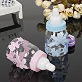 GreenSun(TM) 12Pc/Set Baby Shower Blue Boy Pink Girl Baptism Christening Brithday Party Favors Gift Favors Candy Bear Box Bottle