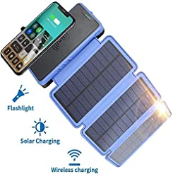 20000mAh Portable Solar Power Bank, Elzl...