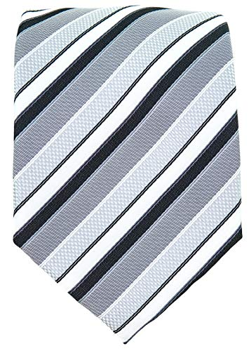 Black & Gray Ties for Men - Woven Necktie for Weddings - Black Grey Tie