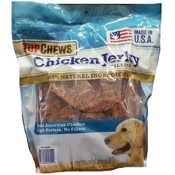 Amazon.com : Top Chews Chicken Jerky Fillets : Adult Dog
