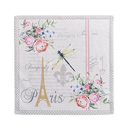 Maison d' Hermine Champ de Mars 100% Cotton Set of 4 Napkins, 20 - inch by 20 - inch.