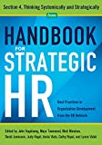 img - for Handbook for Strategic HR - Section 4: Thinking Systematically and Strategically book / textbook / text book