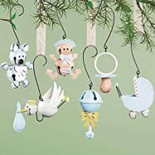 Baby BOY CollectaBells Ornaments Bells Set of 6 Party Shower Favors