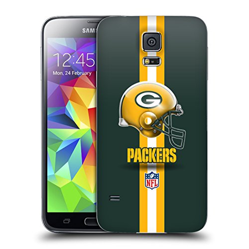 Official NFL Helmet Green Bay Packers Logo Replacement Battery Cover for Samsung Galaxy S5 / S5 Neo from Head Case Designs