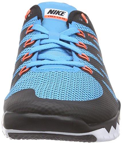 Nike Free TR 5.0 V6, Scarpe Fitness Uomo Blu (Blau (Black/Hypr Orange-bl Lgn-white 084))
