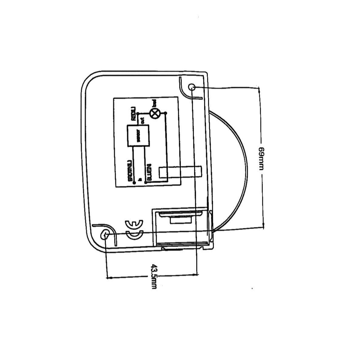 D/étecteur de Mouvement 180/° jusqu/à 12m