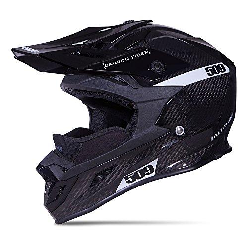 509 Carbon Fiber Altitude Snow Snowmobile Helmet - Gloss Black - 509-HEL-ACG-_