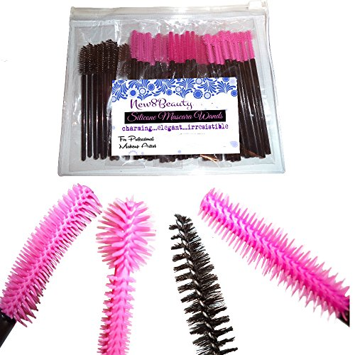 Disposable Silicone and Nylon Eyelash Mascara Wands Brush Se