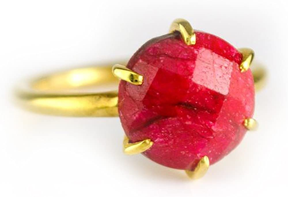 DV Jewels Dyed Ruby Round Prong Set Ring