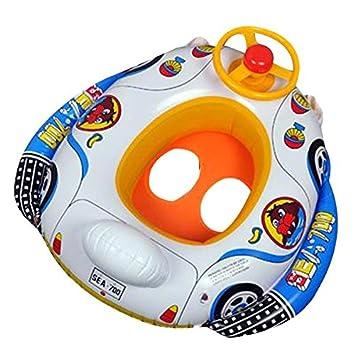 KINGDUO Infantil Baby Piscina Inflable Asiento Flotador Barco Piscina Rueda Cuerno: Amazon.es: Hogar