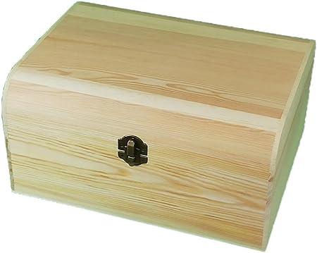 greca Caja de Madera. con Tapa Curva. En Crudo, para Decorar ...