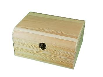 greca Caja de Madera. con Tapa Curva. En Crudo, para Decorar.: Amazon.es: Hogar