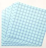 """10 sheets of 12""""x12"""" Transfer Paper with Grid for Craft Vinyl. (Clear with Blue Grid)"""