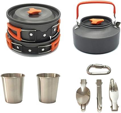 QVIVI acampa Kit de Cocina Camping Juego de Utensilios de ...