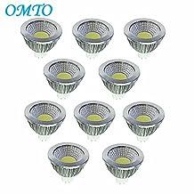 OMTO MR16 COB 12V 4W LED Bulbs Warm White 3000K LED Spotlights -35Watt Equivalent - 350 Lumen High Power Lamp 30 Degree Beam Angle for Landscape Recessed Track lighting(10-Pack)