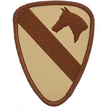 US Army Military Armed Forces Iron On Patch - Air & Armored Cavalry - 1st Cavalry Division Applique