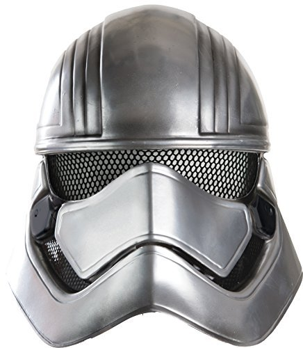 Rubie's Boy's Star Wars Captain Phasma 1/2 Mask Child Halloween Costume (Silver Stormtrooper Costume)