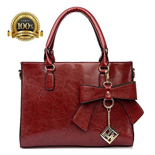 premium Burgundy Purses Shoulder Fashion bags Tote for leather Handbags bag wristband boutique Bag Women top Satchel bag Ladies handle qHSKBFw
