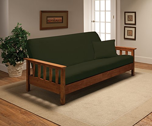 Madison Stretch Jersey Futon Slipcover Forest,