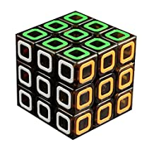 3x3x3 Eco-friendly Plastics Speed Cube Stickerless Speed Magic Cube (Black Transparent)