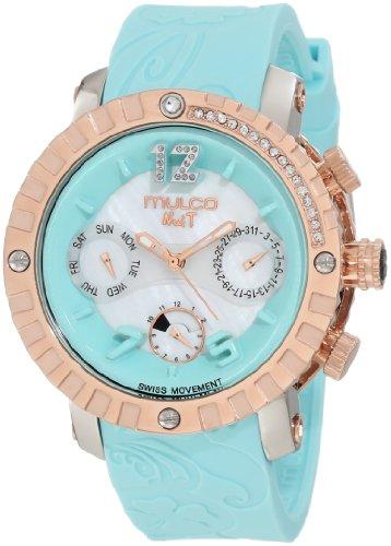 Mulco Unisex MW5-1622-413 Nuit Lace Chronograph Swiss Movement Watch (Chronograph New Technomarine Stainless Steel)