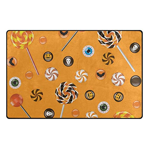 Jubenlcai Halloween Lolly Lightweight Non Slip Doormat Entrance Mat Floor Mat Rug Dirt Trapper Mats 23.6 x 15.7 inches